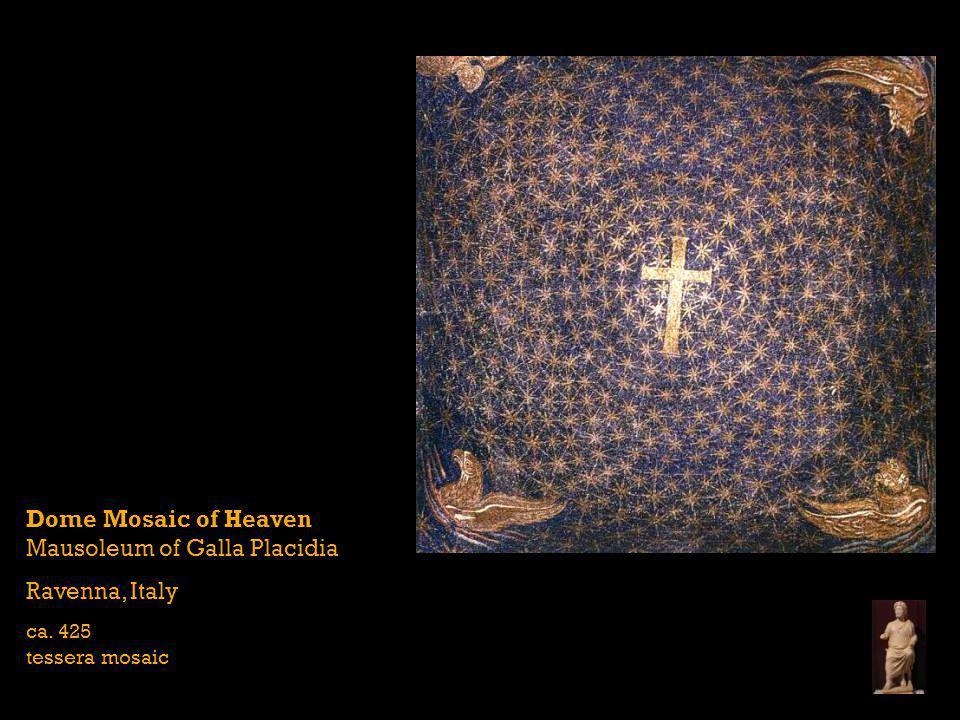 Dome Mosaic of Heaven Mausoleum of Galla Placidia Ravenna, Italy