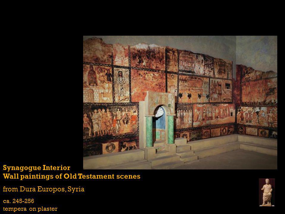 Synagogue Interior Wall paintings of Old Testament scenes