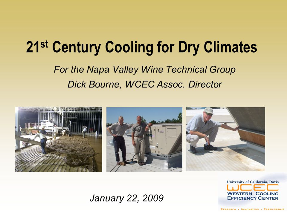 21st Century Cooling for Dry Climates