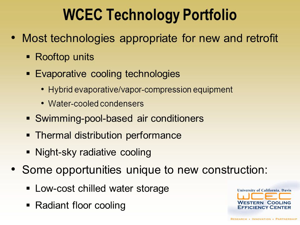 WCEC Technology Portfolio
