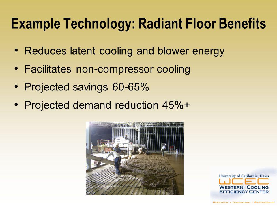 Example Technology: Radiant Floor Benefits