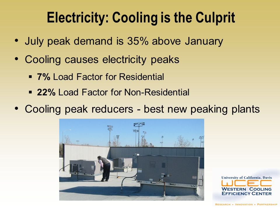 Electricity: Cooling is the Culprit