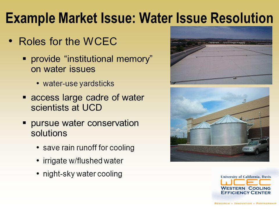 Example Market Issue: Water Issue Resolution
