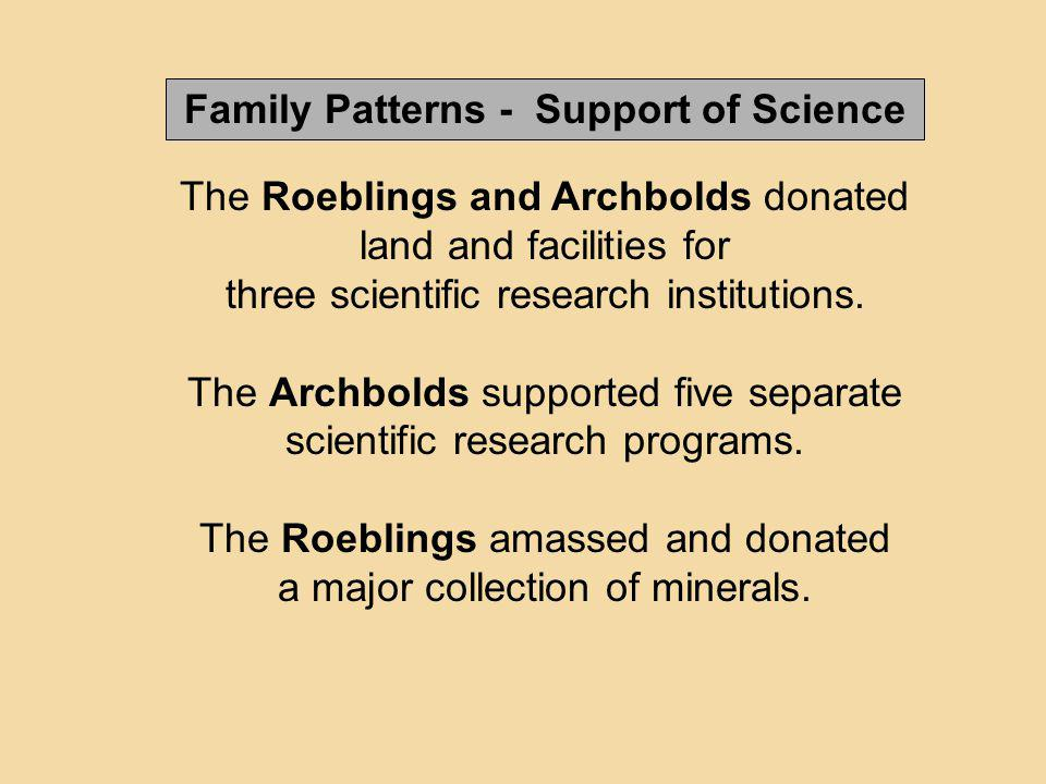 Family Patterns - Support of Science