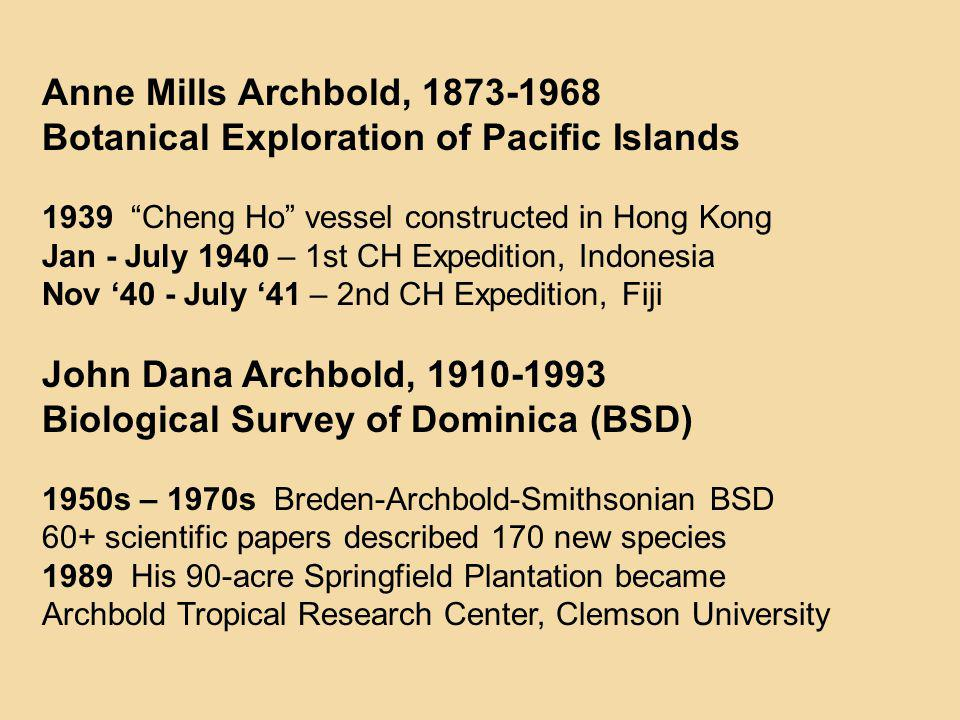 Botanical Exploration of Pacific Islands