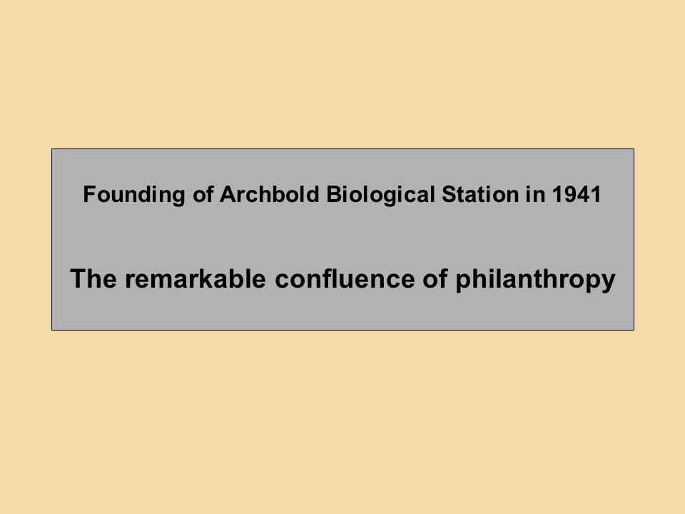 The remarkable confluence of philanthropy