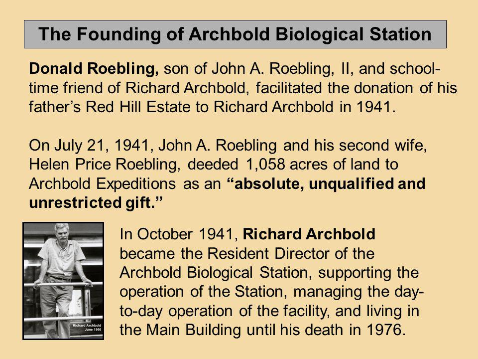 The Founding of Archbold Biological Station