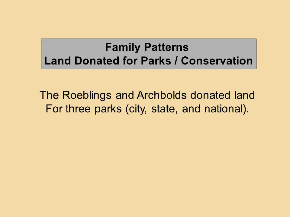Land Donated for Parks / Conservation