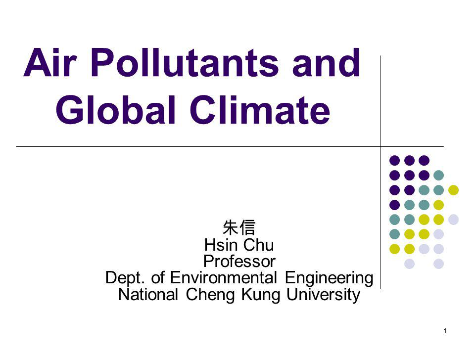 Air Pollutants and Global Climate
