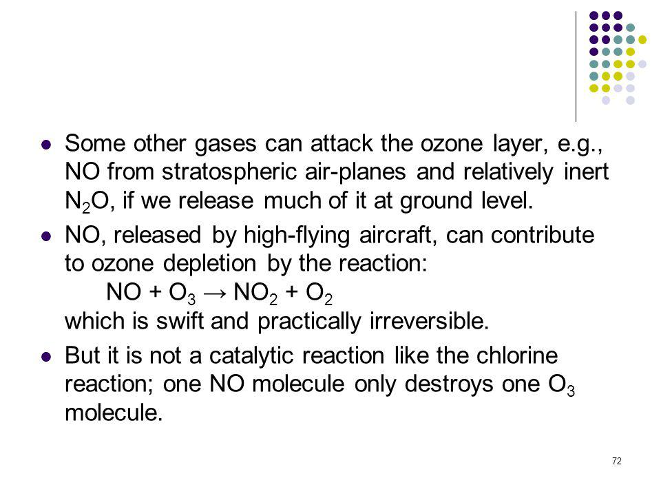 Some other gases can attack the ozone layer, e. g