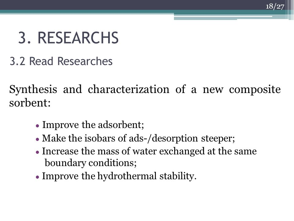 3. RESEARCHS 3.2 Read Researches