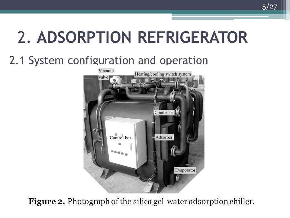 2. ADSORPTION REFRIGERATOR