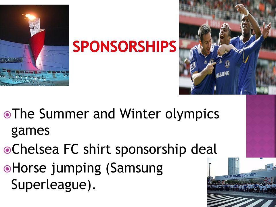 sponsorships The Summer and Winter olympics games
