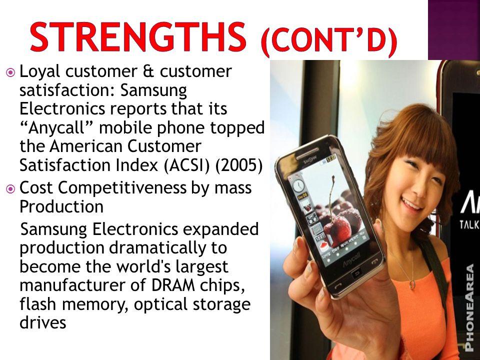 Strengths (cont'd)