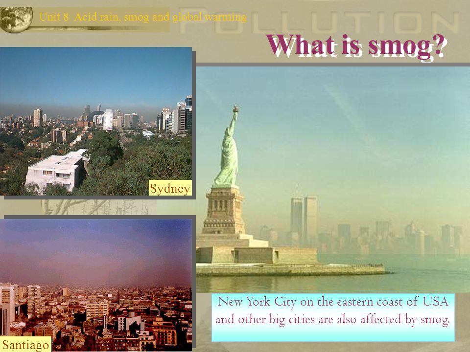Unit 8 Acid rain, smog and global warming