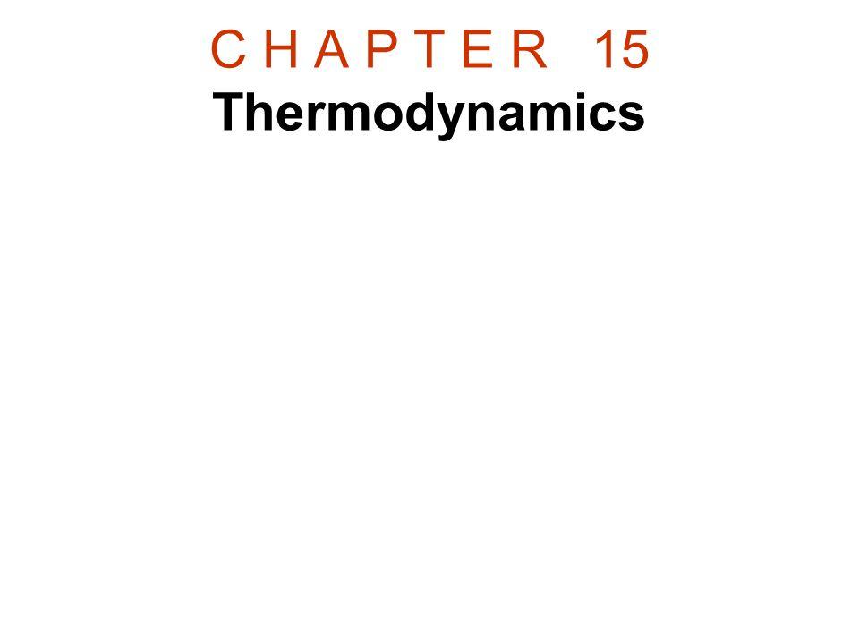 C H A P T E R 15 Thermodynamics