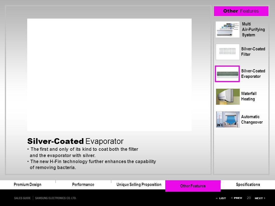 Silver-Coated Evaporator