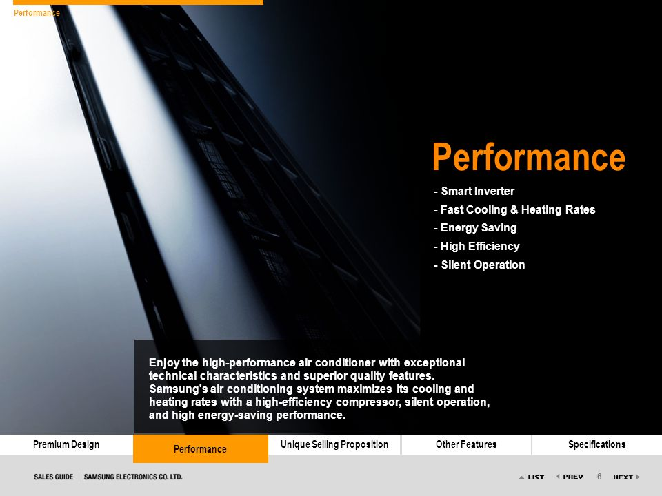 Performance - Smart Inverter - Fast Cooling & Heating Rates