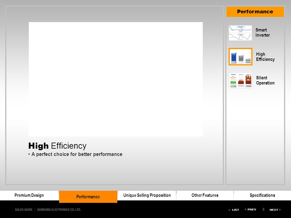 High Efficiency A perfect choice for better performance