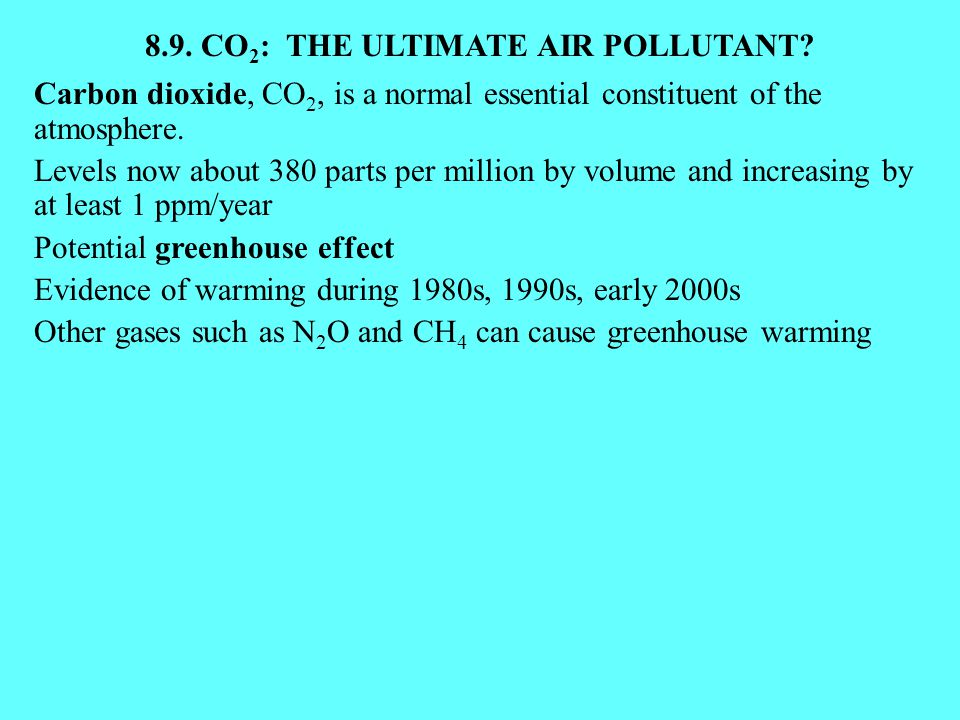 8.9. CO2: THE ULTIMATE AIR POLLUTANT