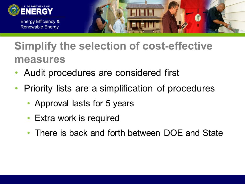 Simplify the selection of cost-effective measures