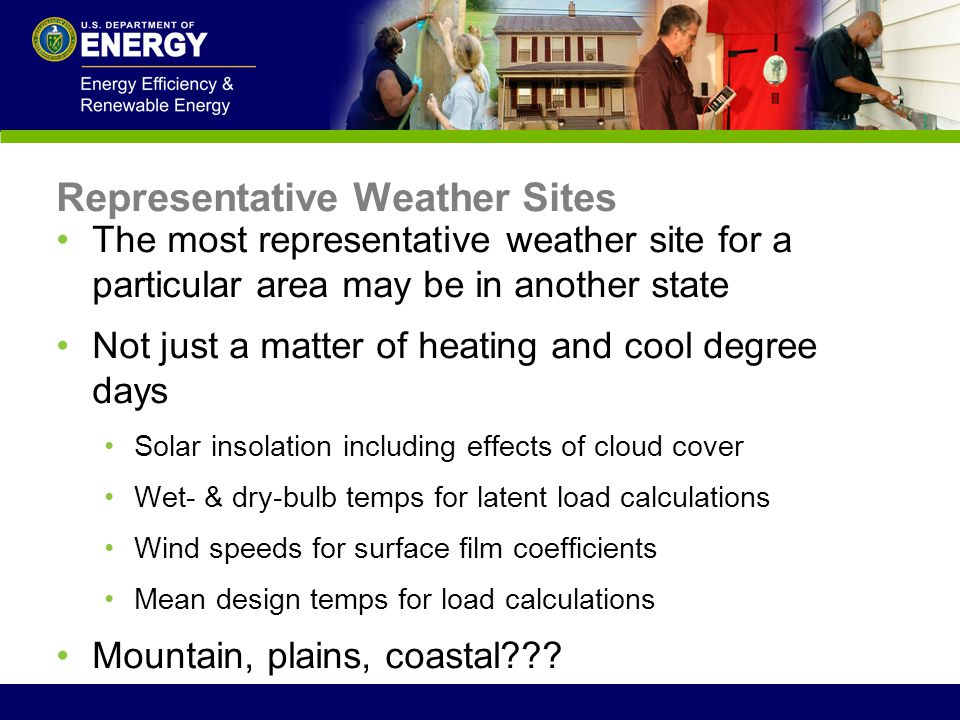 Representative Weather Sites
