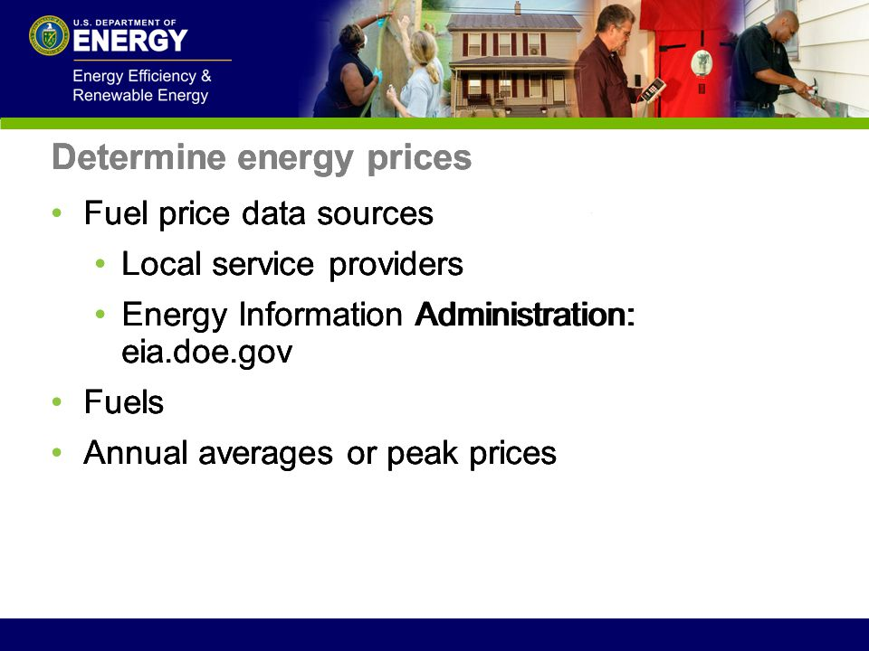 Determine energy prices