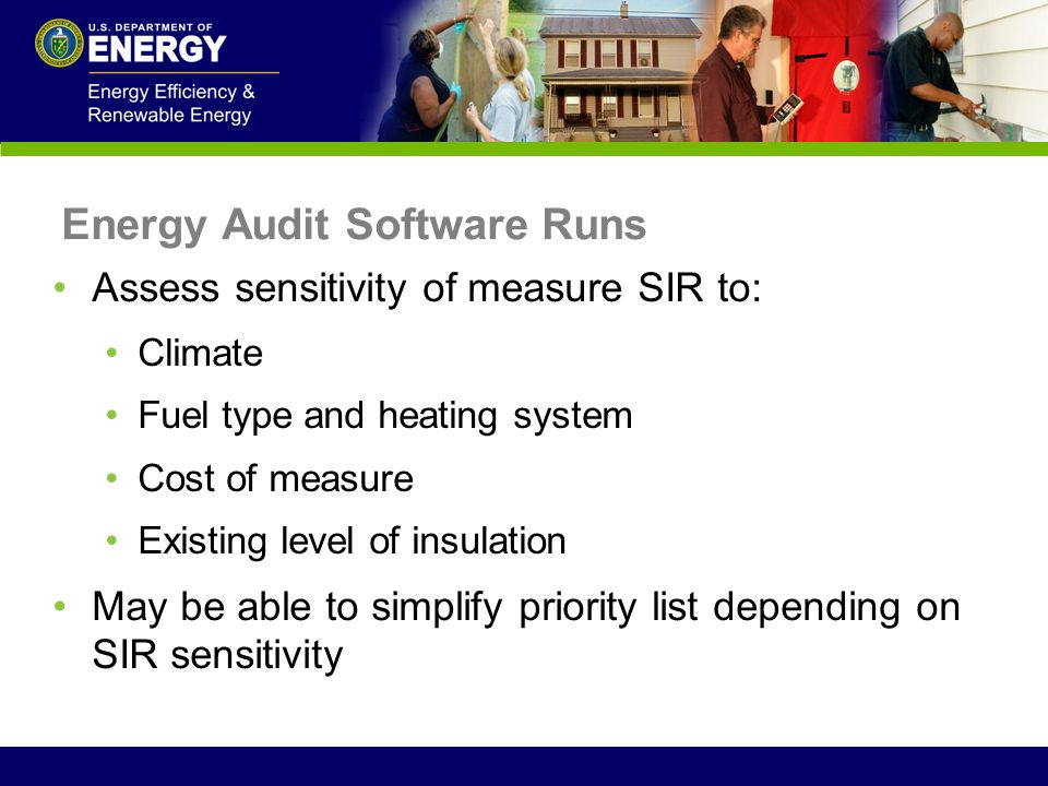 Energy Audit Software Runs
