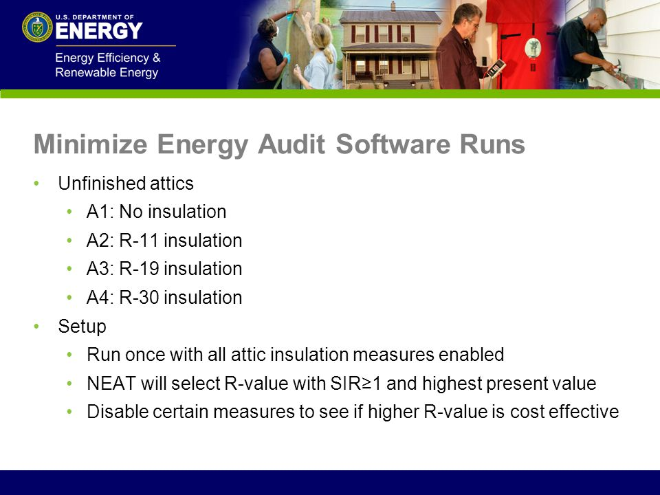 Minimize Energy Audit Software Runs