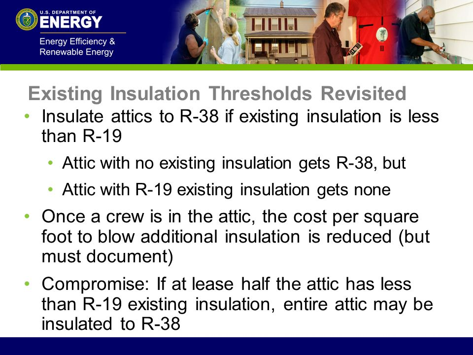 Existing Insulation Thresholds Revisited