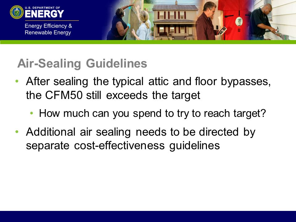 Air-Sealing Guidelines
