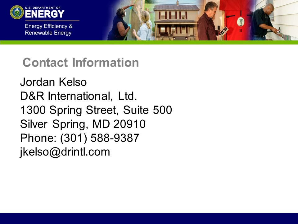 Contact Information Jordan Kelso. D&R International, Ltd. 1300 Spring Street, Suite 500. Silver Spring, MD 20910.