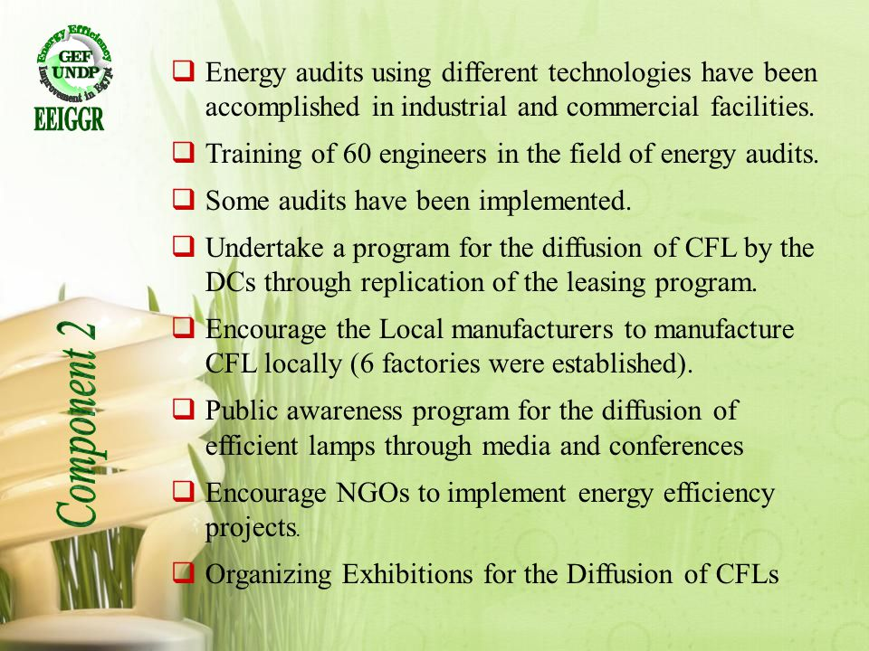 EEIGGR Energy audits using different technologies have been accomplished in industrial and commercial facilities.