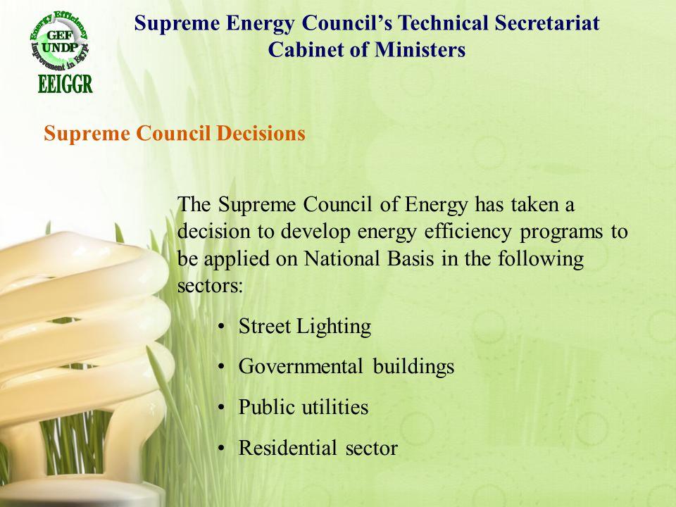 Supreme Council Decisions