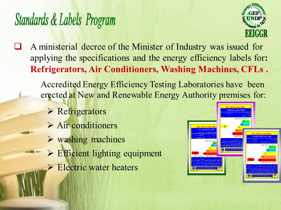 Standards & Labels Program