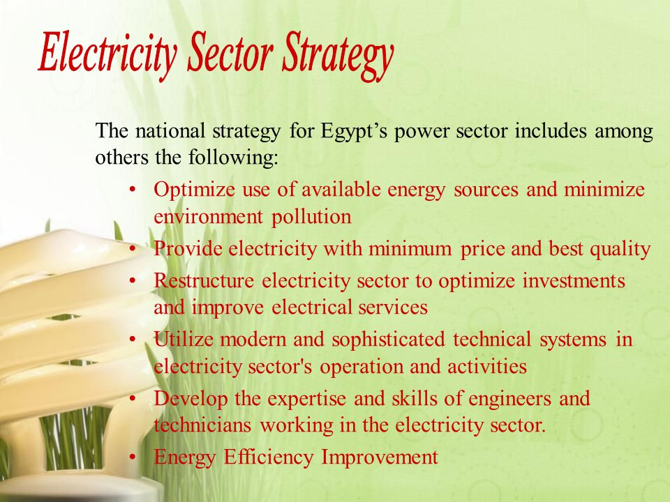 Electricity Sector Strategy