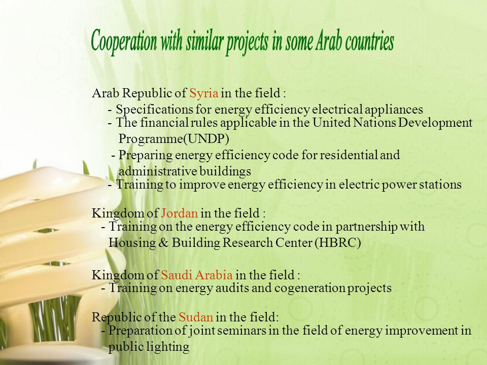 Cooperation with similar projects in some Arab countries