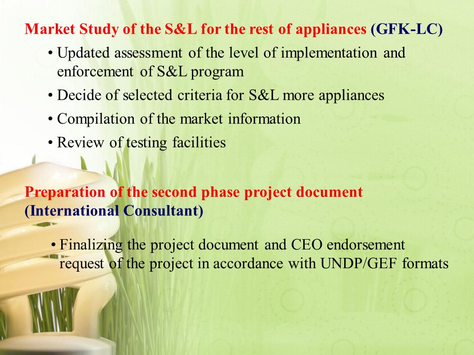Market Study of the S&L for the rest of appliances (GFK-LC)