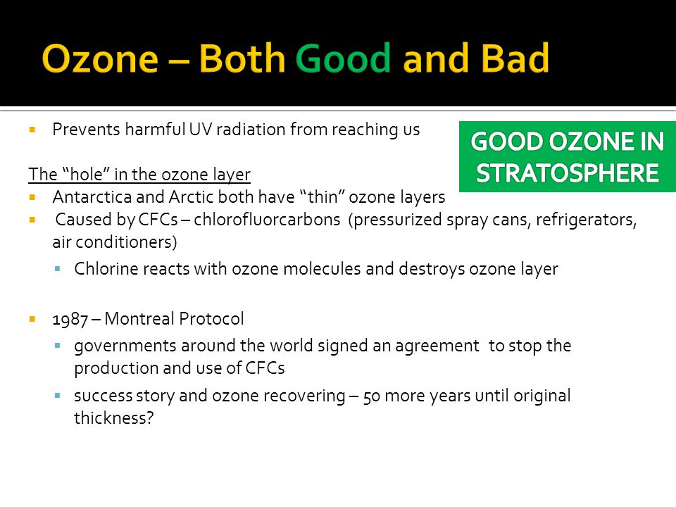 Ozone – Both Good and Bad