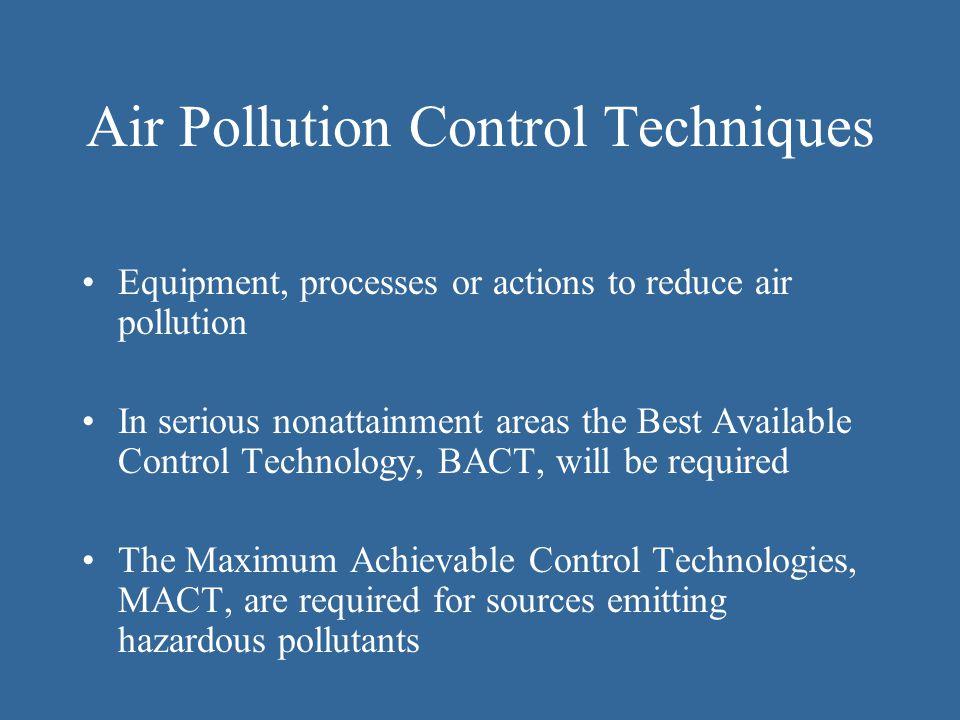 Air Pollution Control Techniques