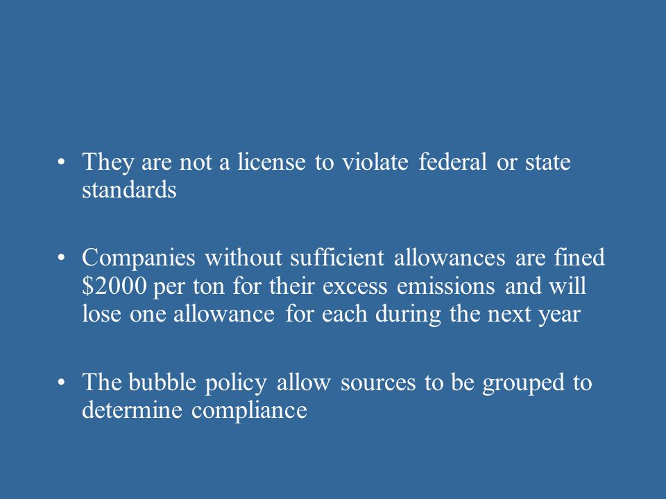 They are not a license to violate federal or state standards