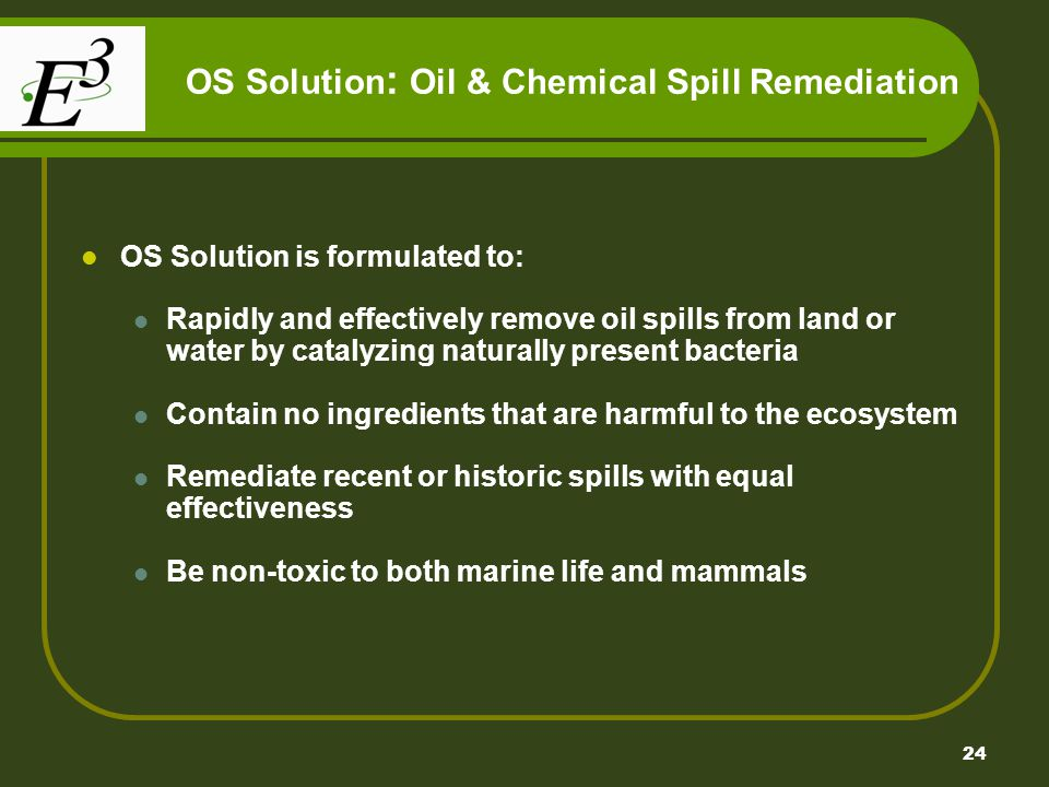 OS Solution: Oil & Chemical Spill Remediation