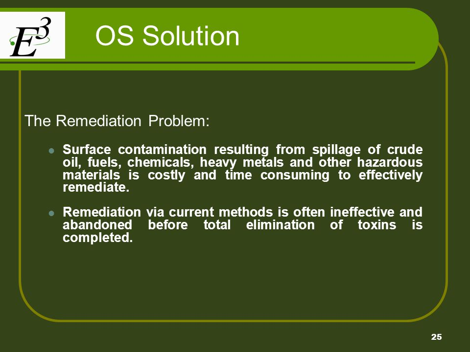 OS Solution The Remediation Problem: