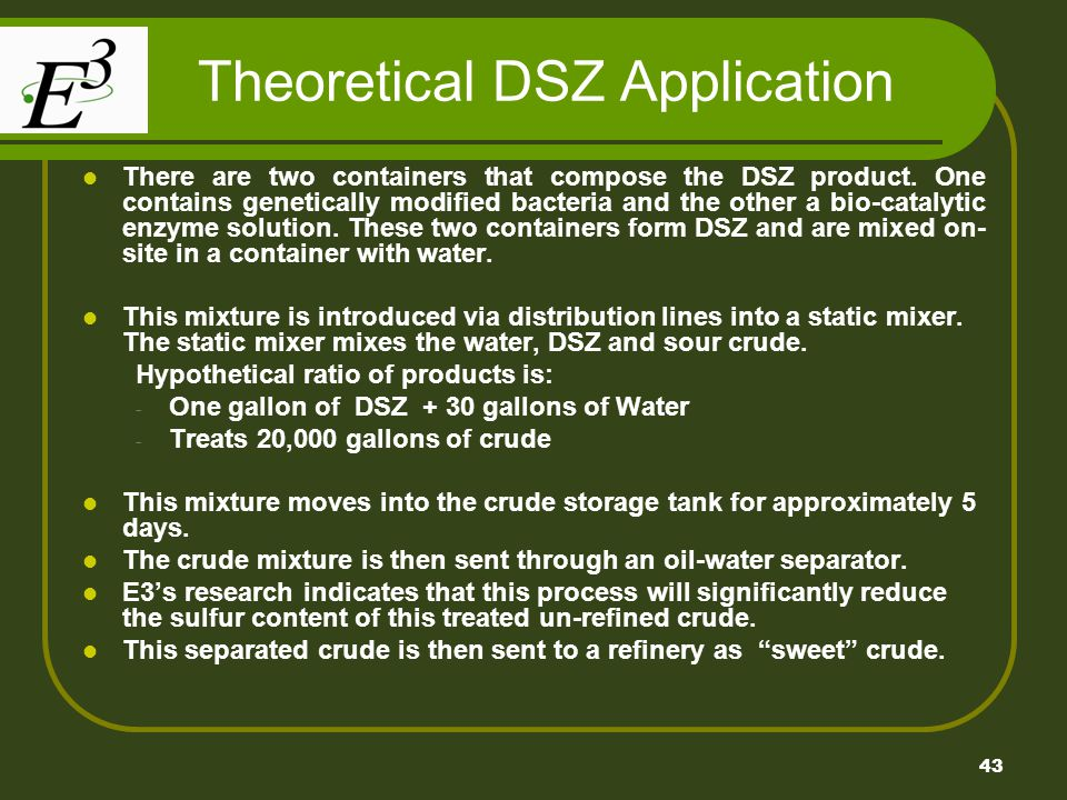 Theoretical DSZ Application