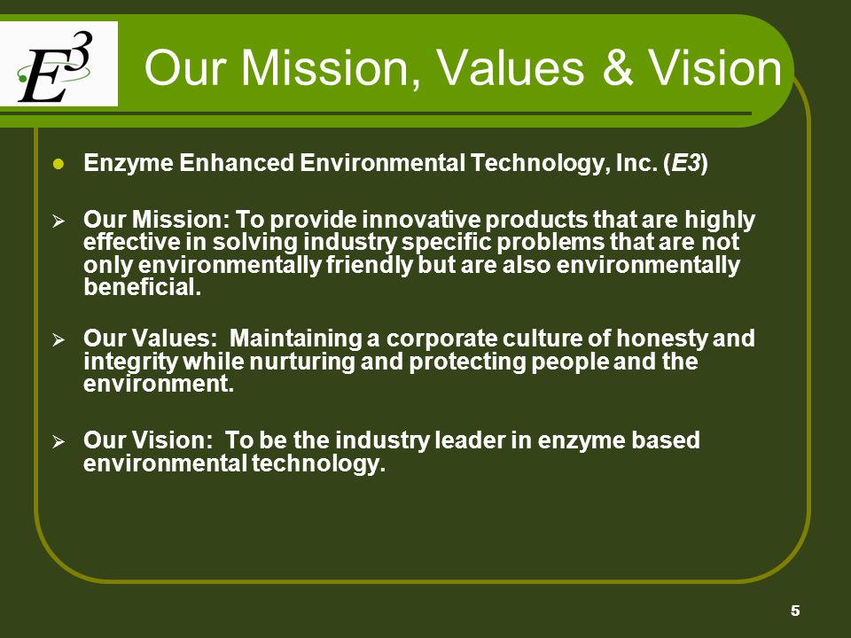 Our Mission, Values & Vision