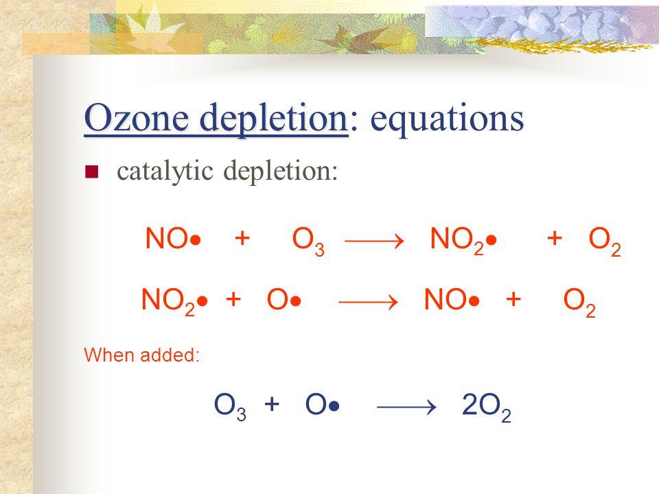 Ozone depletion: equations