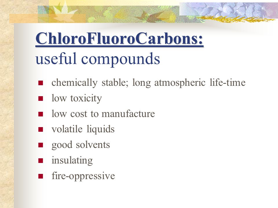 ChloroFluoroCarbons: useful compounds