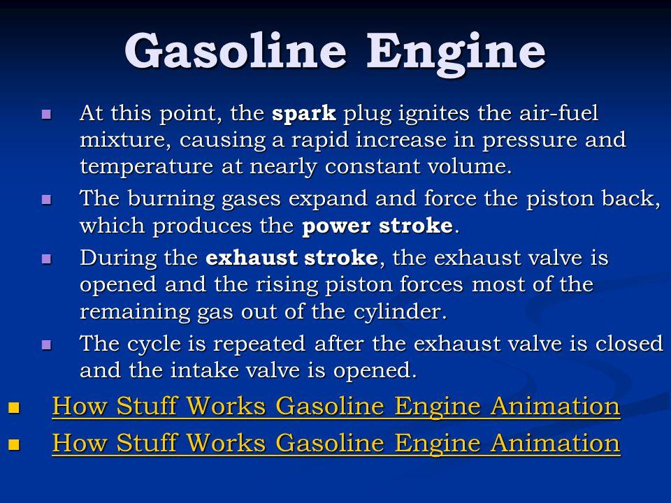 Gasoline Engine How Stuff Works Gasoline Engine Animation