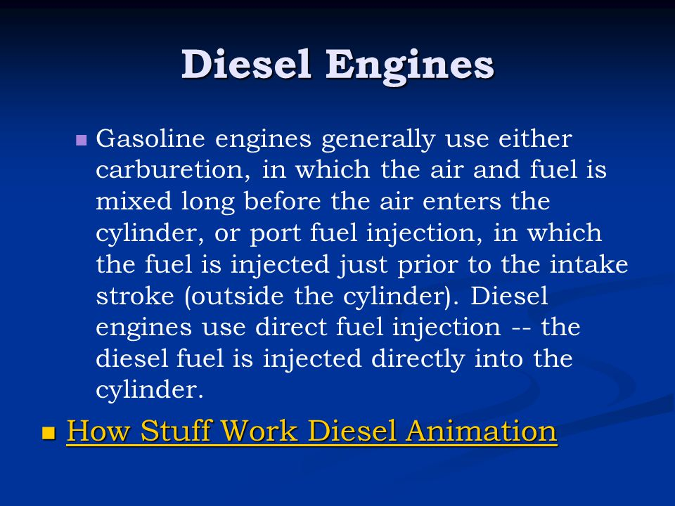 Diesel Engines How Stuff Work Diesel Animation