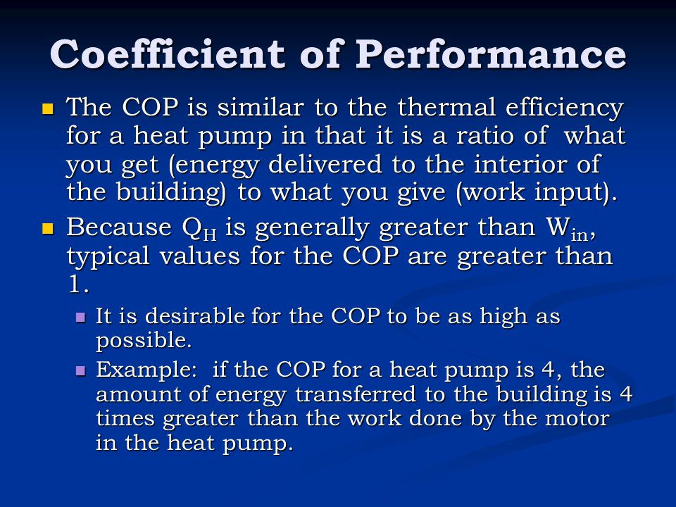 Coefficient of Performance